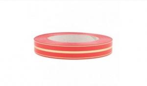 Лента глянцевая с золотой полосой 2 см (110 красный)