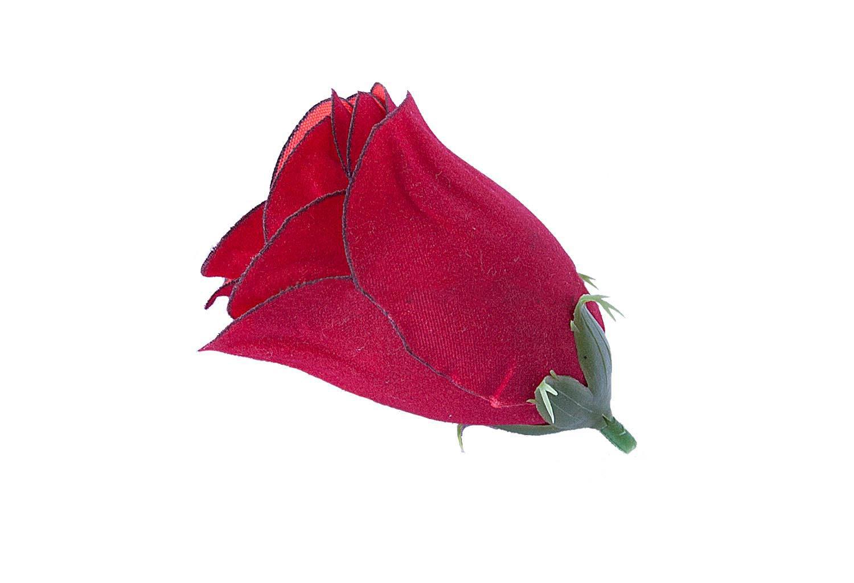 Роза бутон бархат 5,5*6,5 см (1/50)