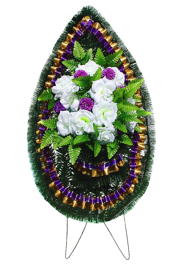 Венок готовый 1008е фиолетовый