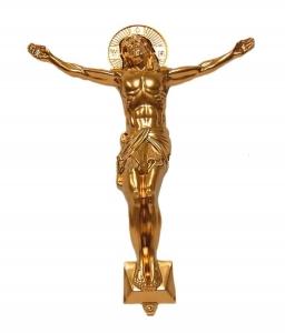 Распятие большое золото( h-27.7) золото